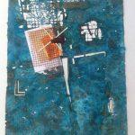 Hilal Sami Hilal, Série Cartas, Cobre/Corrosão, papel e oxidação, 65 x 51 cm, 2012.