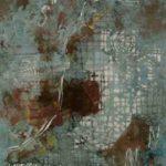 Hilal Sami Hilal, Territorio do Possível, Cobre/Corrosão e oxidação, 65 x 51 cm, 2011.