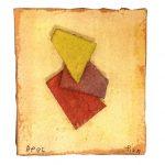 Arthur Piza, AP 95, Aquarela e colagem sobre papel tourchon, 7 x 7,3 cm