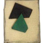 Arthur Piza, PA 42, Aquarela e colagem sobre papel tourchon, 8,5 x 7,5 cm