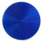 Marcos Coelho Benjamim, Roda Azul, zinco oxidado pintado em azul, 120 cm de diâmetro.