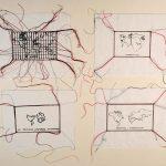 Anna Bella Geiger, Variáveis, Serigrafia e bordado à máquina sobre linho, 52 x 62cm, 1978-2009.
