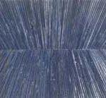 Marcos Coelho Benjamim Retângulo Zinco Oxidado pintado em Azul 60 x 160 cm.