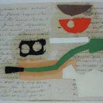Júlio Villani Sem Título Óleo sobre Documentos Cartoriais 29,5 x 42 cm, 2009.