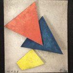 Arthur Luiz Piza, AP 58, Aquarela em papel Tourchon e colagem, 8,5 x 7,5 cm