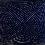 Marcos Coelho Benjamim Quadrado Azul Zinco pintado em Azul 27 x 27 cm.