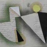 Júlio Villani, Danse, Óleo sobre documentos cartoriais, 30 x 40 cm, 2011