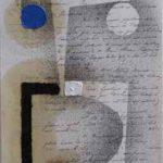 Júlio Villani, Hipótiese, Óleo sobre documentos cartoriais, 24 x 18 cm, 2011