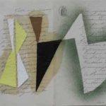 Júlio Villani, Danse 2, Óleo sobre documentos cartoriais, 30 x 40 cm, 2011