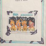 Anna Bella Geiger, Burocracia, Guache e nanquim sobre papel, 26 x 20 cm, 1978.