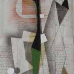Júlio Villani, Jardim, Óleo sobre documentos cartoriais, 58 x 40 cm, 2011.