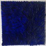 Marcos Coelho Benjamim, Quadrado Azul, Zinco oxidado pintado em Azul, 50 x 50 cm
