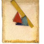 Arthur Piza, AP 96, Aquarela e colagem sobre papel tourchon, 7,5 x 6,5 cm