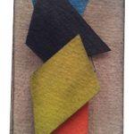 Arthur Luiz Piza, BP34, Aquarela e colagem, 11 x 7 cm