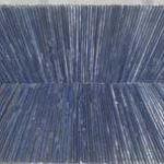 Marcos Coelho Benjamim Sem Título Zinco Oxidado pintado em Azul 60 x 160 cm.