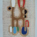 Júlio Villani Joana e o Mar Óleo sobre documentos cartoriais 64 x 43 cm, 2007.