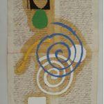 Júlio Villani Sol e Chuva Óleo sobre documentos cartoriais 37 x 23 cm, 2008.