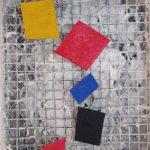 Arthur Luiz Piza, T – 537, Arame galvanizado, zinco pintado em acrílica, massa corrida e madeira pintada, 14,5 x 11 cm