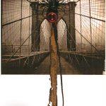 Anna Bella Geiger, Flumenpont nº 1, Fotografia, encáustica, vidro, plástico e limalha, 39 x 31 cm, 2001/2005.