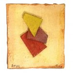 Arthur Luiz Piza, AP 95, Aquarela e colagem sobre papel tourchon, 7 x 7,3 cm
