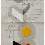 Júlio Villani,, Folty, Óleo sobre documentos Cartoriais, 25 x 18 cm, 2016