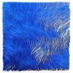 Marcos Coelho Benjamim, Quadrado, Zinco oxidado pintado em Azul e Cobre, 85 x 85 cm.