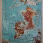 Hilal Sami Hilal, serie Atlânticos, Cobre/Corrosão, 141 x 115 cm, 2011.