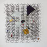 Attrape Reve, Arame galvanizado e zinco pintado em acrilica, 93 x 84 x 25 cm
