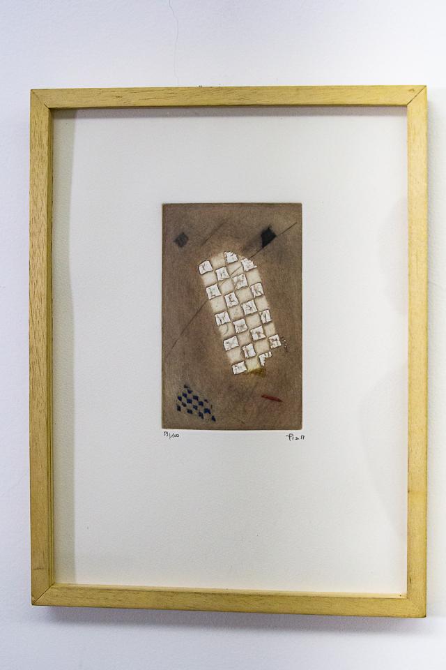 Echele de Jacob, Gravura em metal, 38 x 28 cm, Tiragem 59/100.