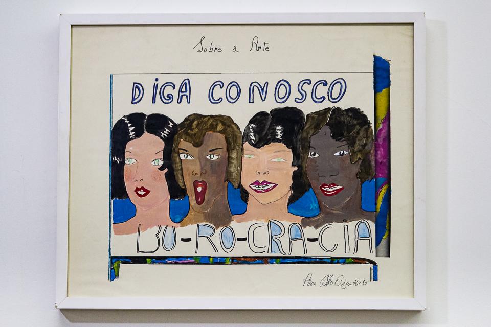 Anan Bella Geiger, Burocracia, Pintura sobre papel canson, 57 x 70 cm, 1976/85