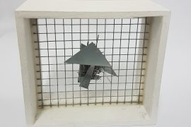 Arthur Luiz Piza T-1444 galavanized wire, painted zinc, and painted wood 3.5 x 4 x 2 in