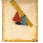 Arthur Luiz Piza, AP 96, Aquarela e colagem sobre papel tourchon, 7,5 x 6,5 cm