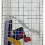Arthur Luiz Piza T-1538 galvanized wire, painted wire, painted iron, and painted wood 6 x 4 x 1.2 in