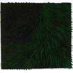 Marcos Coelho Benjamim, Quadrado, zinco oxidado pintado em Verde, 50 x 50 cm, 2015.