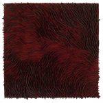Marcos Coelho Benjamim, Quadrado, zinco oxidado pintado em Vermelho, 50 x 50 cm, 2015.