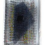 Arthur Luiz Piza, T – 969, Arame galvanizado, zinco pintado em acrílica e madeira pintada, 13,5 x 9,5 x 4 cm