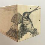 Vítor Mizael, Sem Título, Grafite sobre madeira, 10 x 10 x 20 cm, 2014.