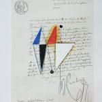 Júlio Villani, Juin, Óleo sobre documentos cartoriais, 34,5 x 17,5 cm, 2016.