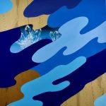 James Kudo, Sem Título, Acrílica sobre tela, 100 X 100 cm, 2017.