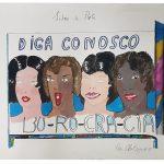 Anna Bella Geiger, Burocracia, Pintura sobre papel canson, 57 x 70 cm, 1976/85