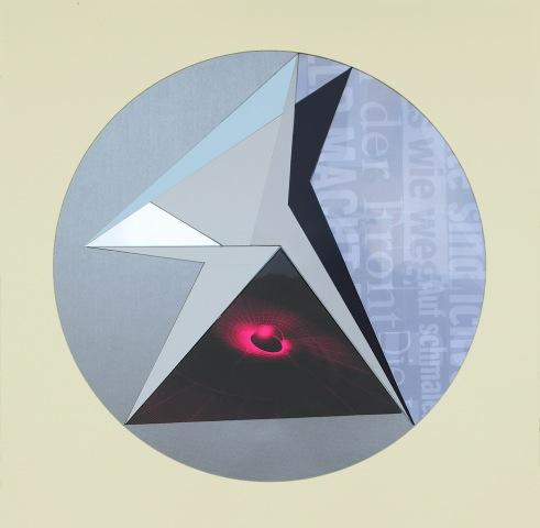 Isabelle Borges, Circle, COLAGEM , PAPEL SINTETICO, IMPRESSAO DIGITAL, CANETA EDDING, 50 x 50 cm, 2016