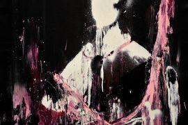 Lars Teichmann, Pink Beauty, Acrílica e laca sobre tela, 108 x 95 cm, 2018