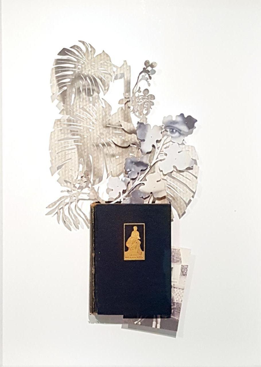 Christus Nobrega, Apêndice VI, Fotografia recortada, acolhida em livro herdado, 70 x 50 cm, 2013.