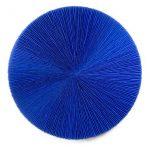 Marcos Coelho Benjamim, Roda azul, zinco oxidado pintado em Azul, 100 cm, 2014