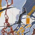 Juliana Gontijo, Foz e fronteira, Acrílica e Pastel oleoso sobre tela, 100 x 196 cm, 2018