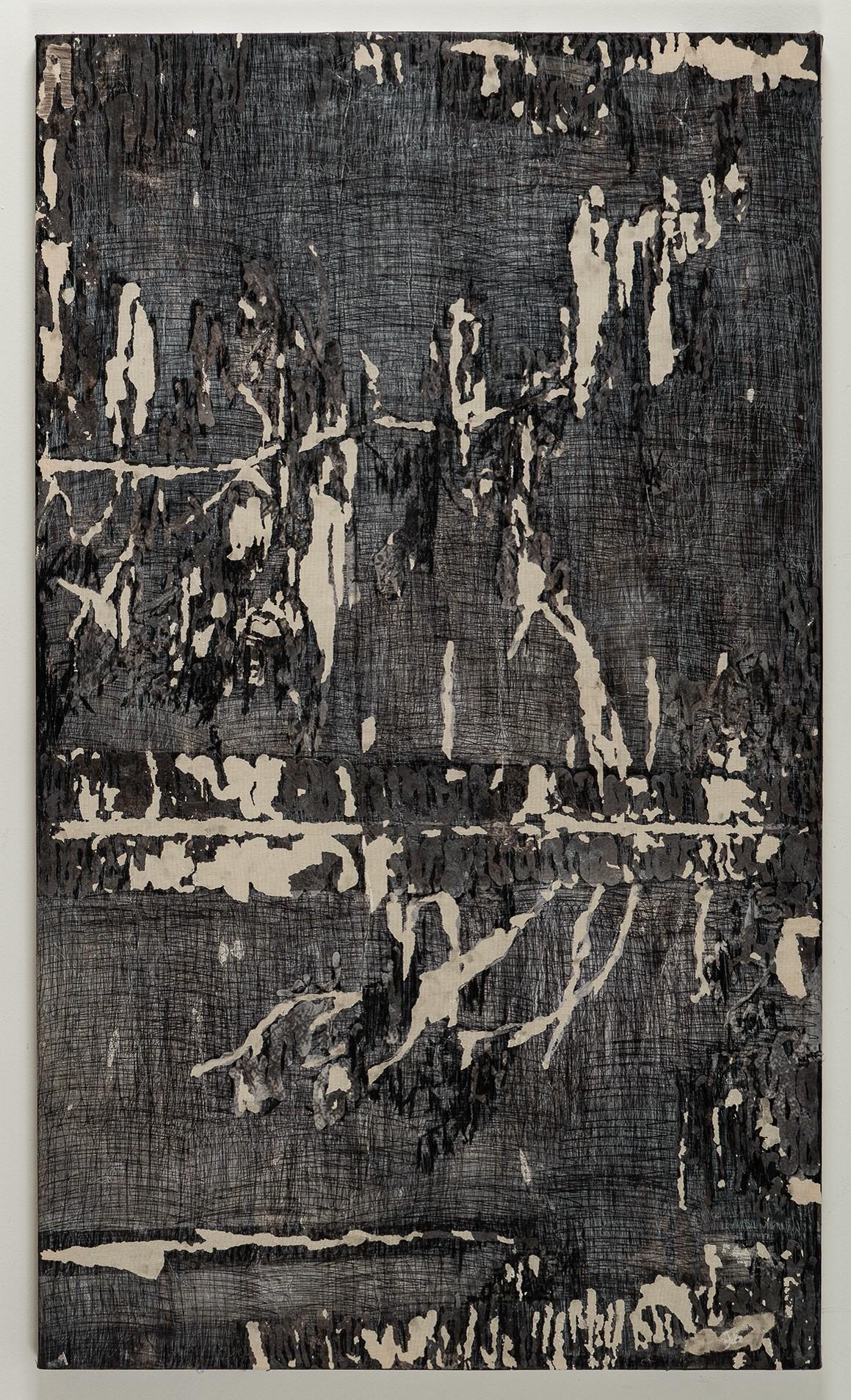 Marina Hachem, Sem Título, Acrílica e grafite sobre tela, 87 x 145 cm, 2018
