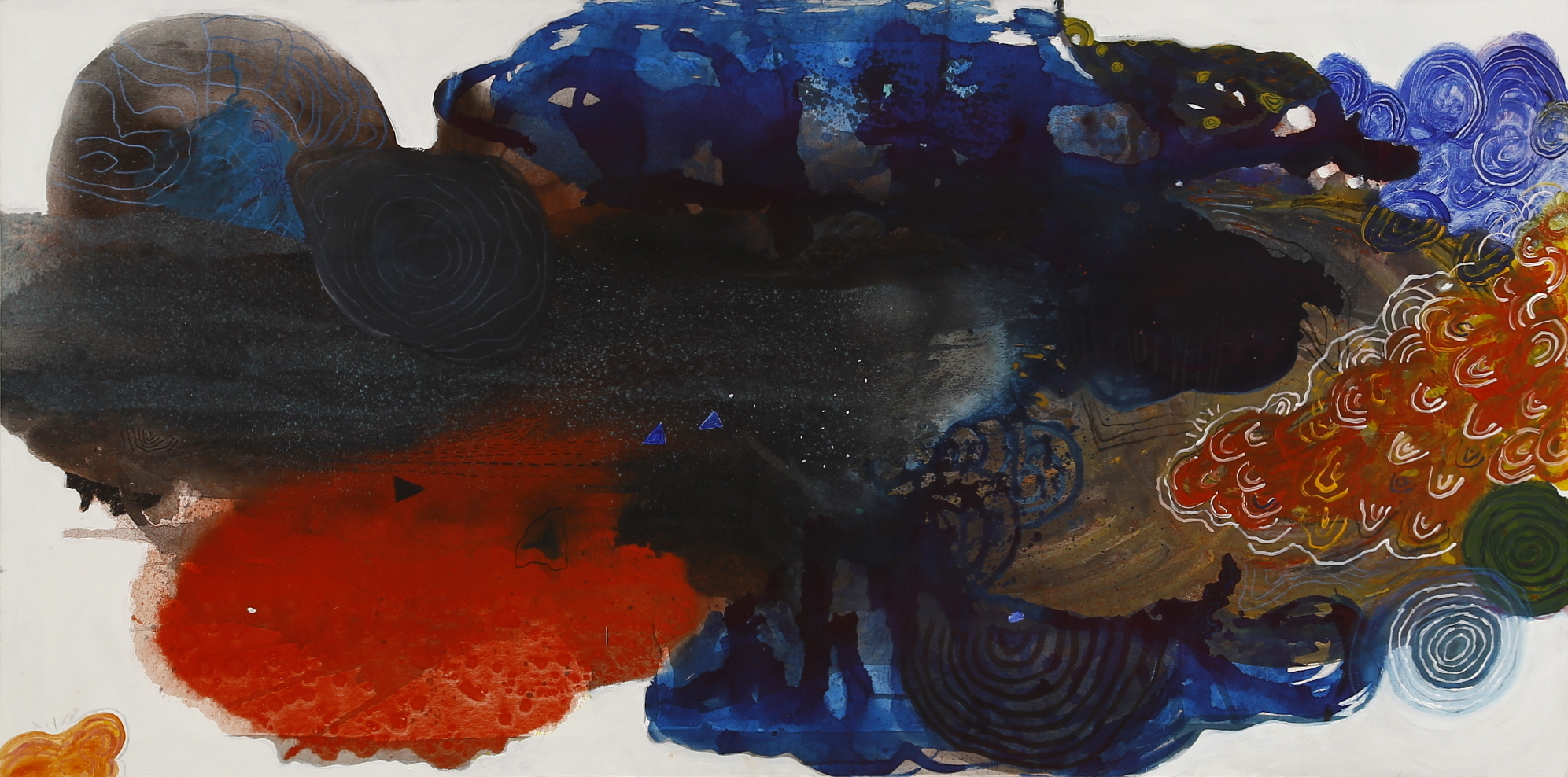 Luiz Aquila, A pintura, a pergunta e a pintura, Acrílica sobre tela, 100 x 200 cm, 2010
