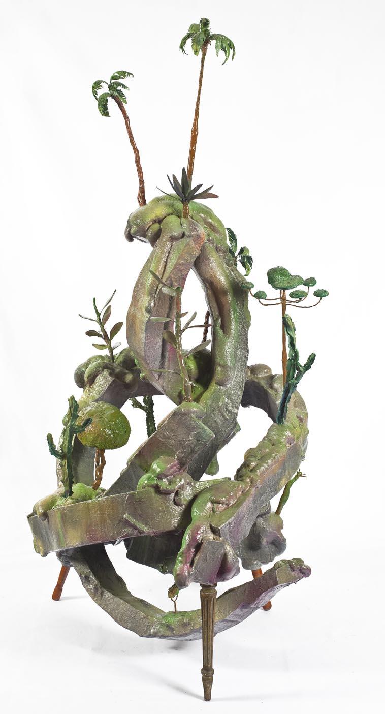 Morro do Polke – Série Móveis Paisagens, Técnica Mista, 162 x 95 cm, 2011 (visão lateral)