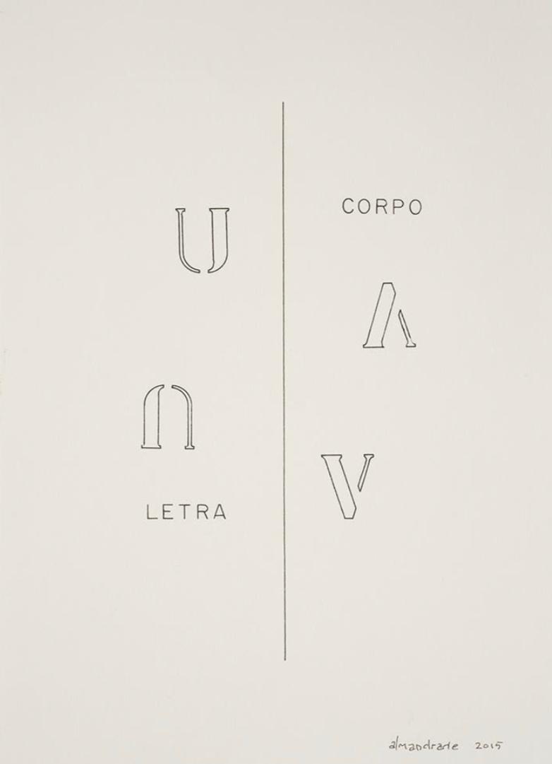 Almandrade, Poema visual, Nanquim sobre papel, 29,5 x 21 cm, 2015