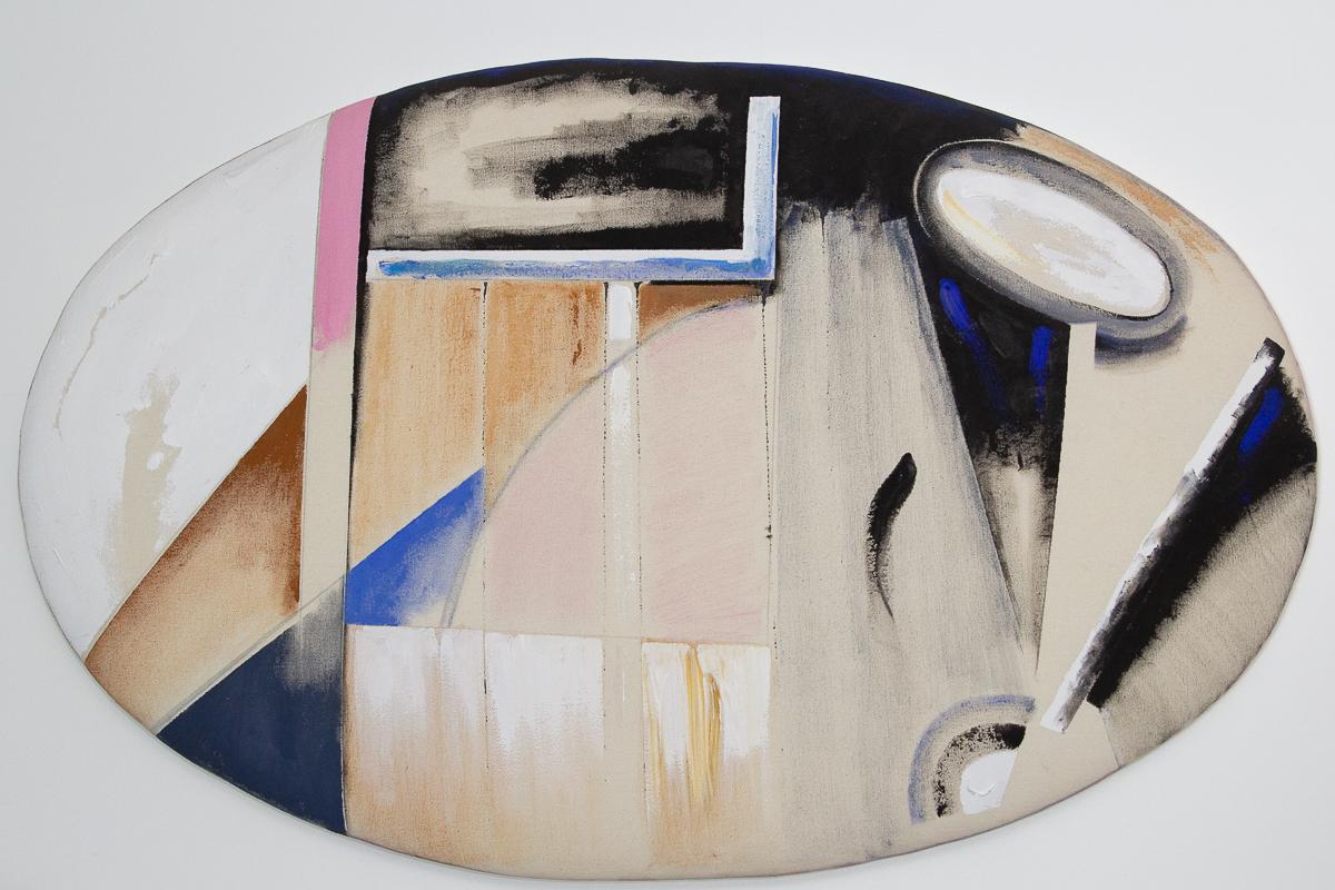 Anna Bella Geiger, Série Macio, Acrílica sobre tela, 62 x 100 cm